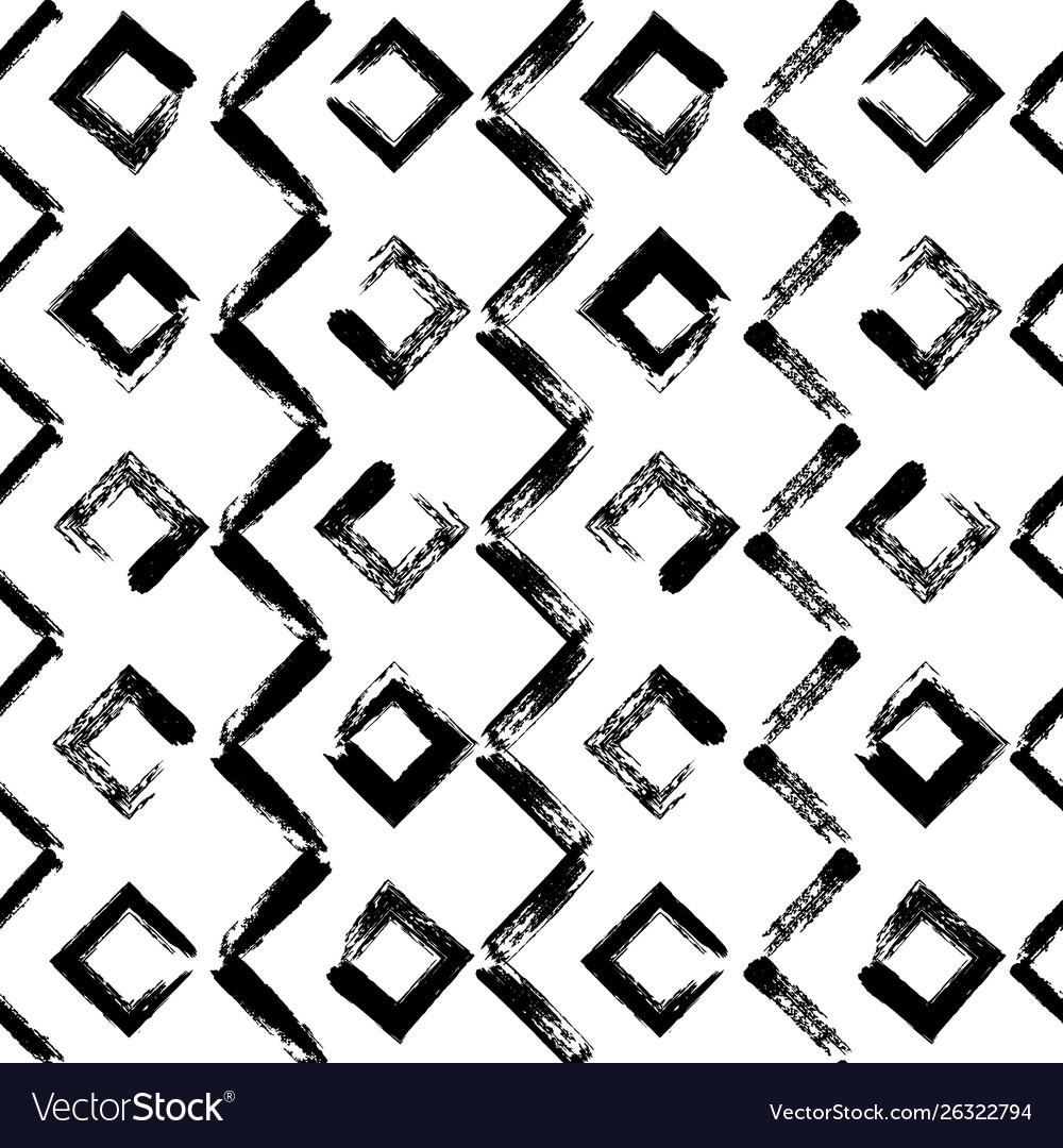 Geometric hand drawn seamless pattern zig