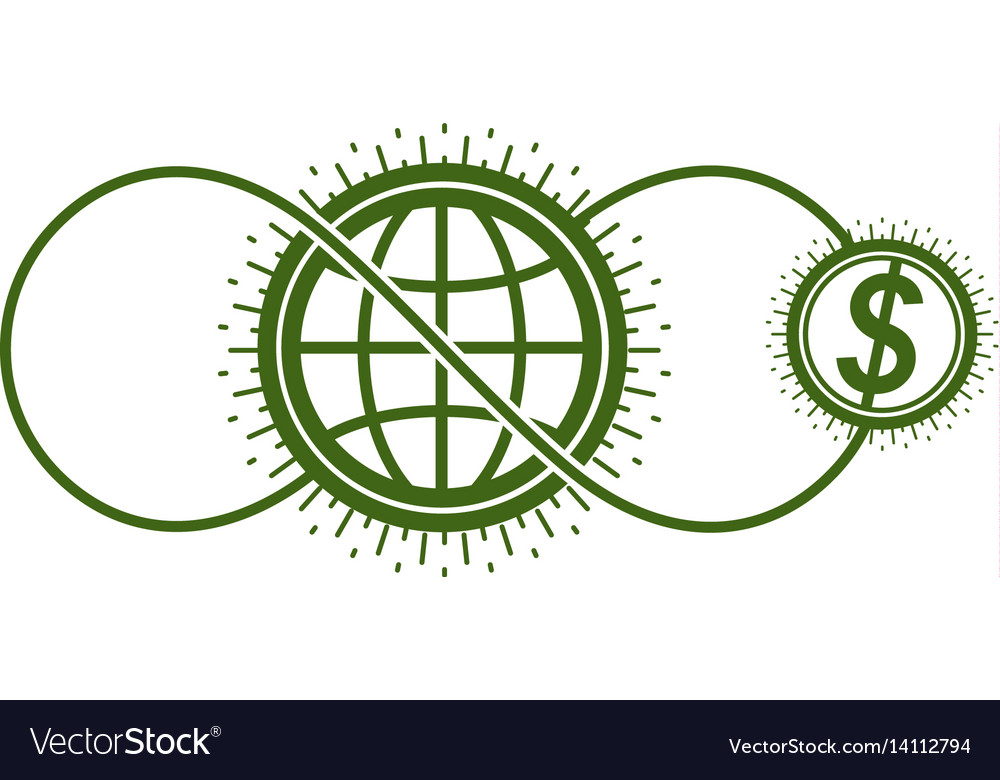 Global cooperation and business conceptual logo