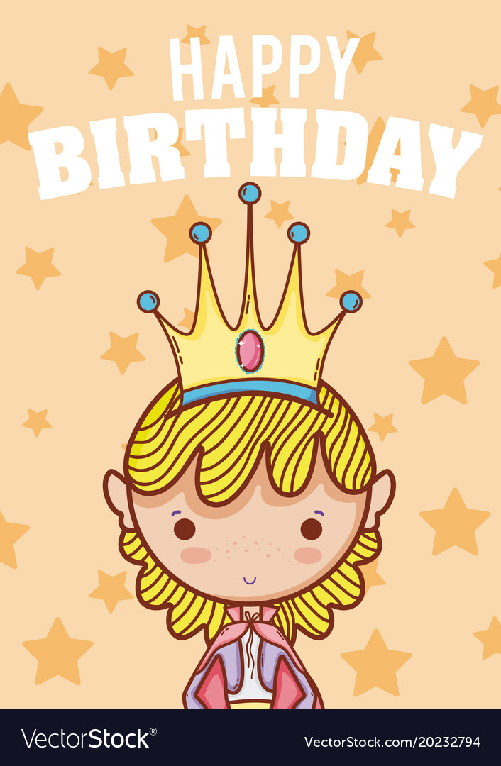 Happy Birthday Card For Boys Royalty Free Vector Image