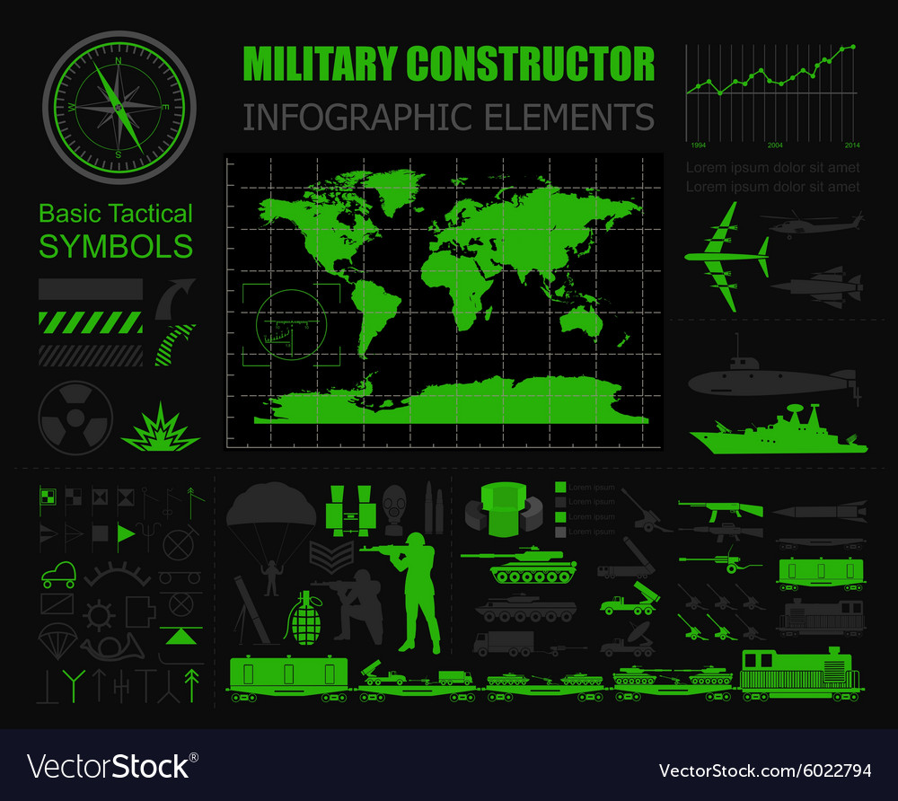 Military infographic template with Top powe