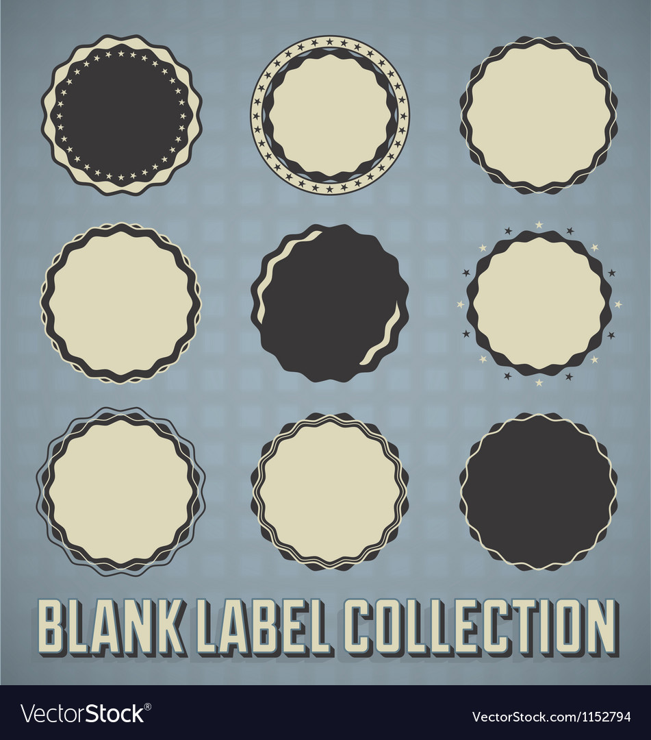 Vintage Blank Labels and Stickers vector image