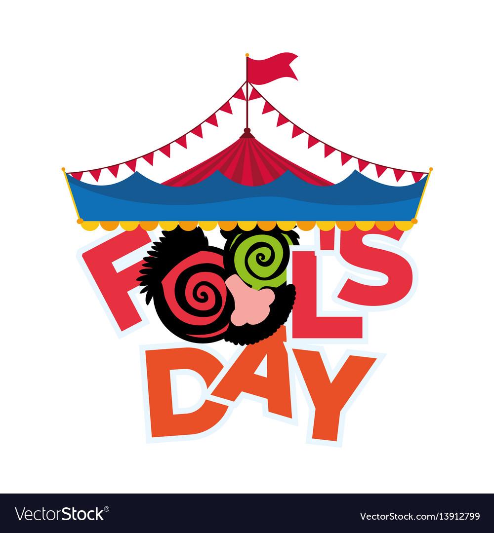 April fools day greeting card image