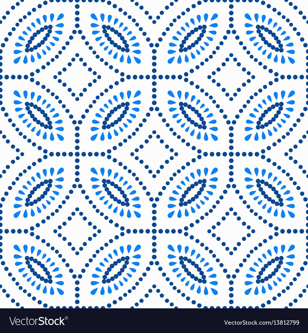 Blue flower pattern boho beads background