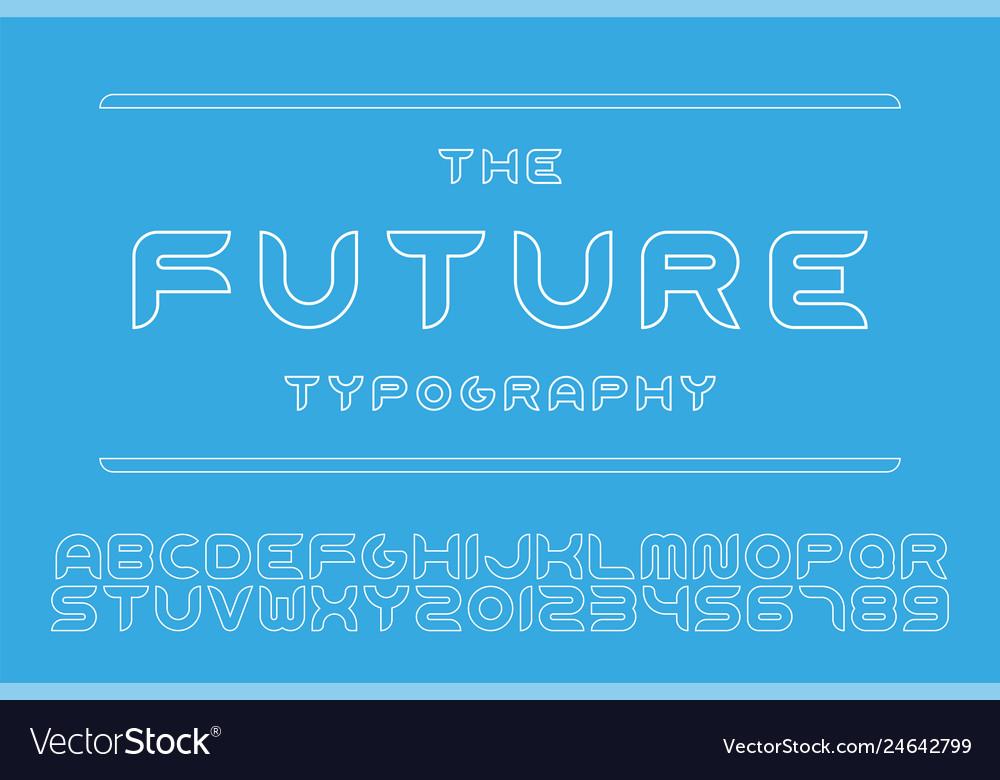 Designer futuristic font - minimal design