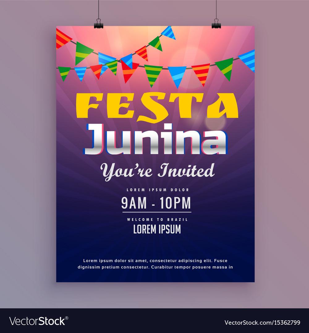 Festa junina greeting card invitation design