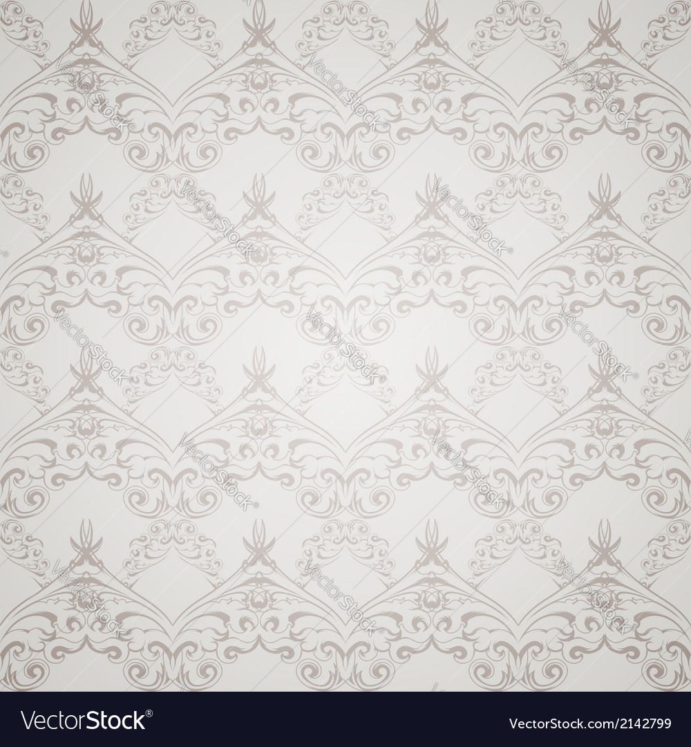 Gray Victorian style vector image