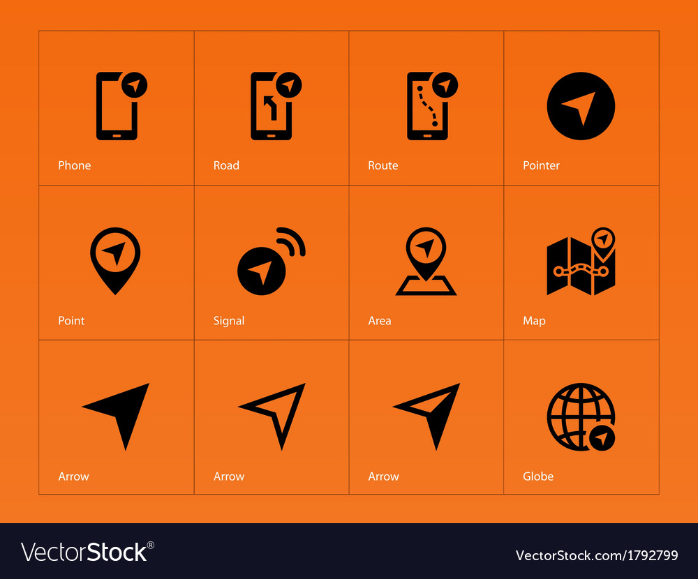 Navigator icons on orange background