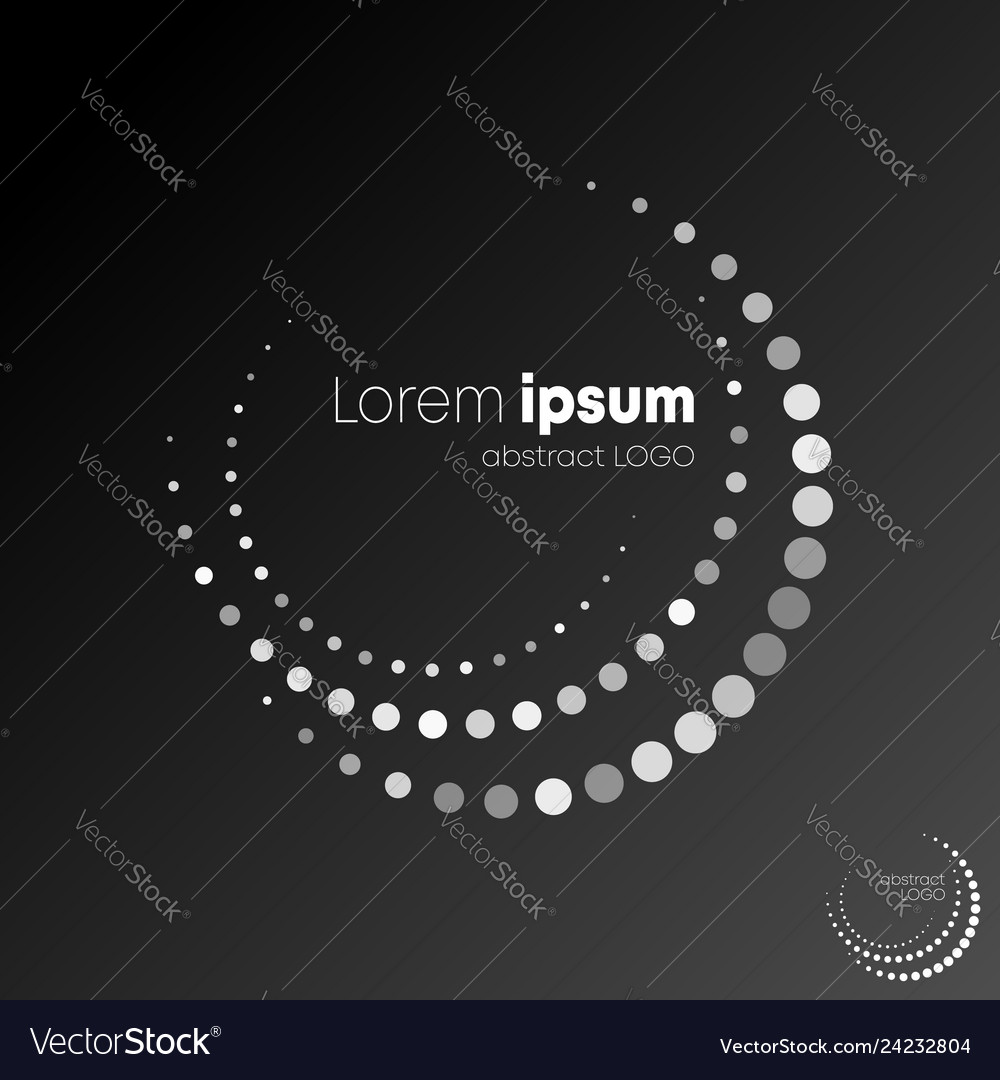 Abstract circle dotted logotype black and white