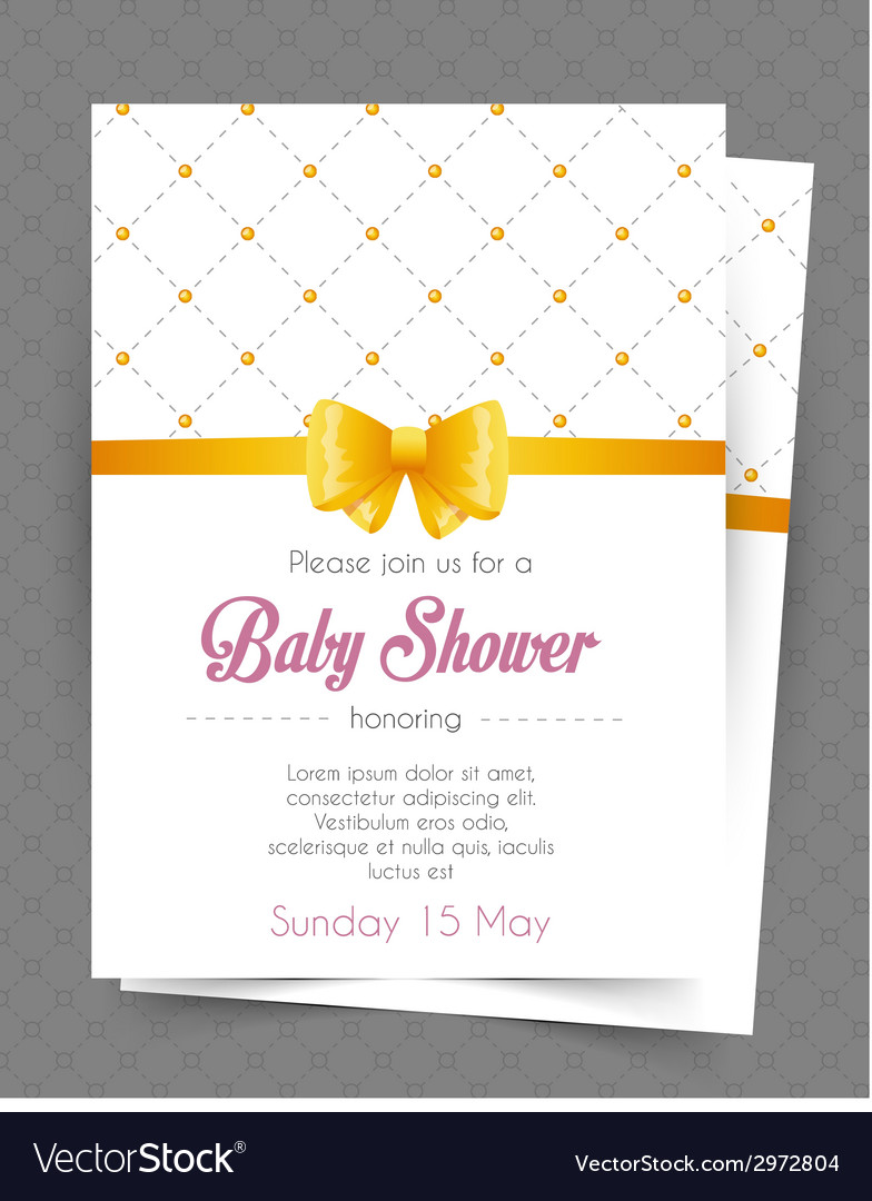Baby Shower Card Template Royalty Free Vector Image