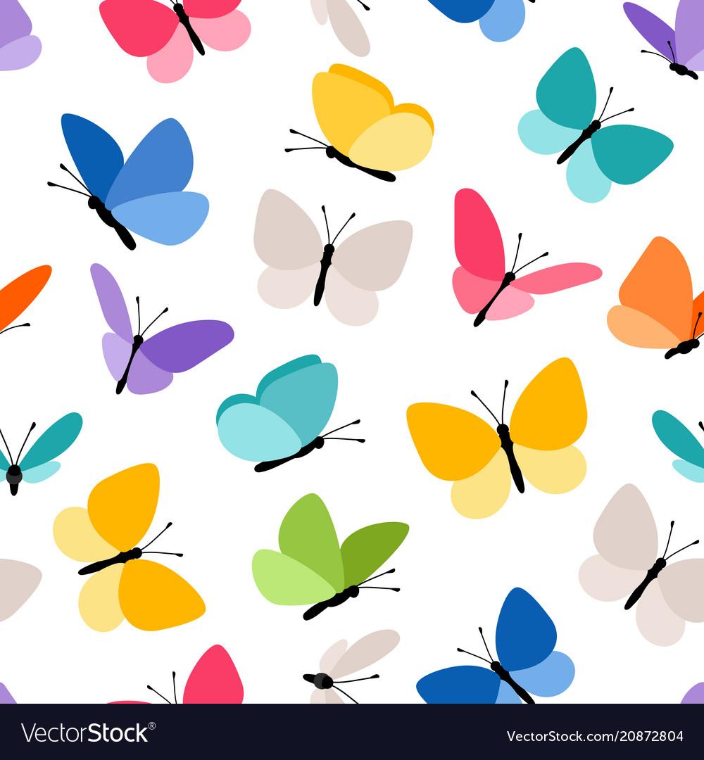 Cute seamless butterfly pattern