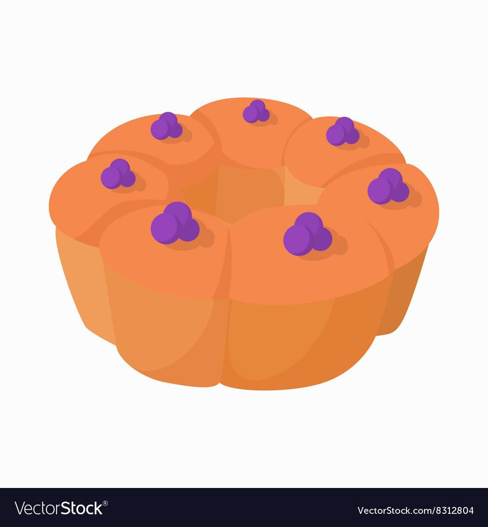 Dessert pudding icon cartoon style