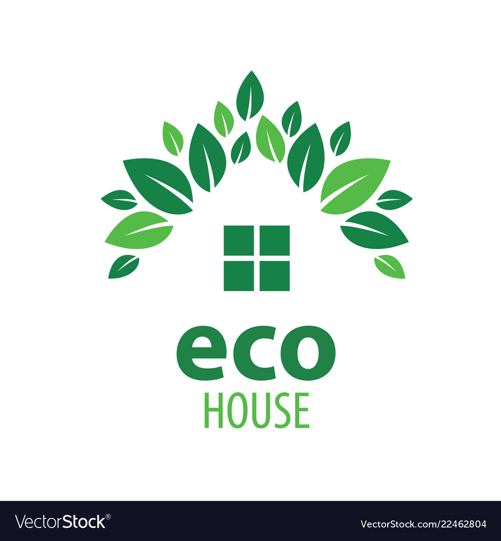 Eco house sign on white