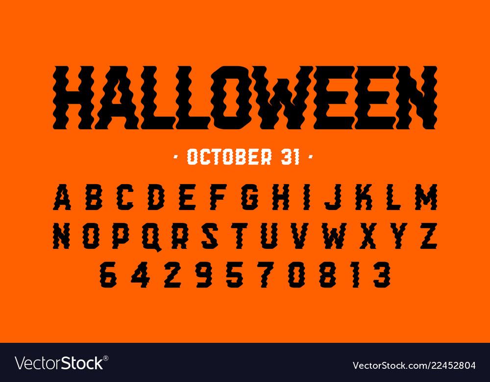 Halloween style font design halloween theme
