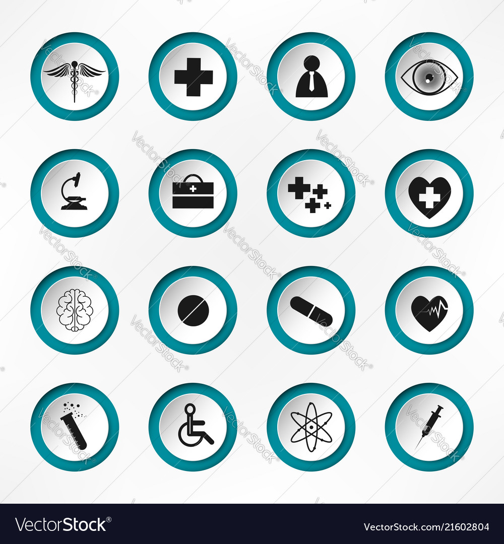 Medical hospital and health care icons - icon set