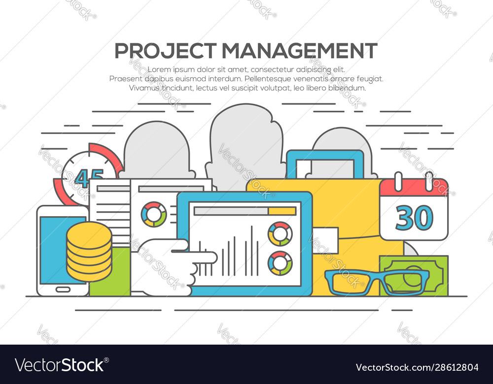 Project management business concept