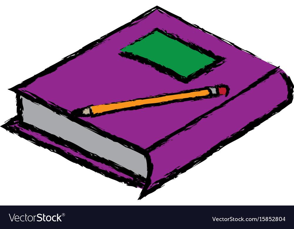 School book pencil equipment study icon