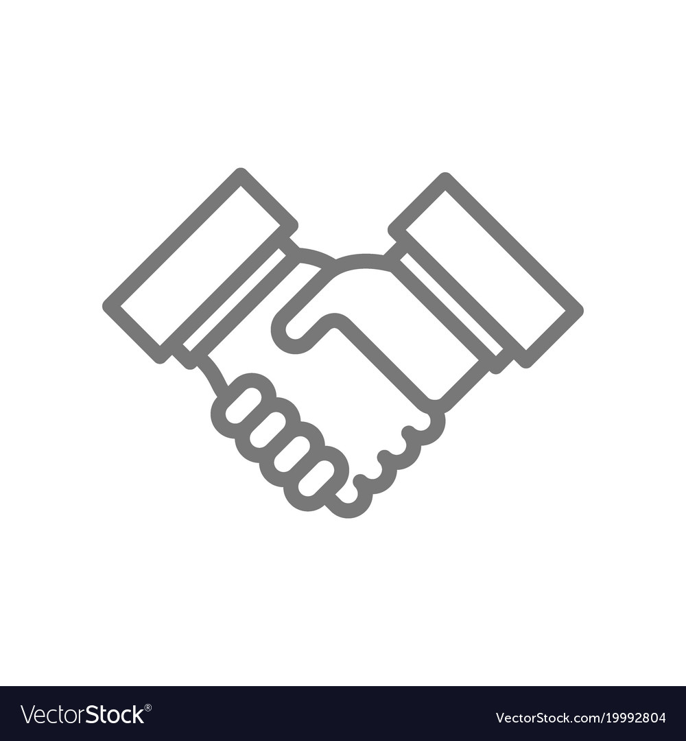 Simple business handshake and contract agreement