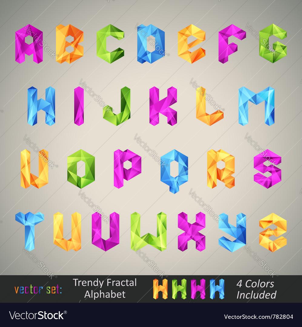 Trendy colorful alphabet
