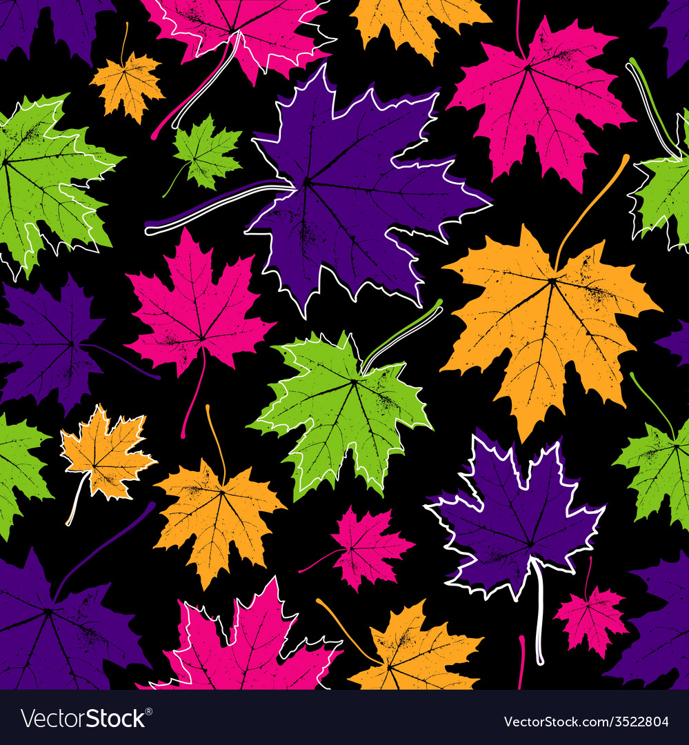 Vintage floral autumn fall seamless pattern with