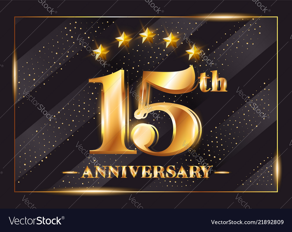 15 years anniversary celebration logo 15th