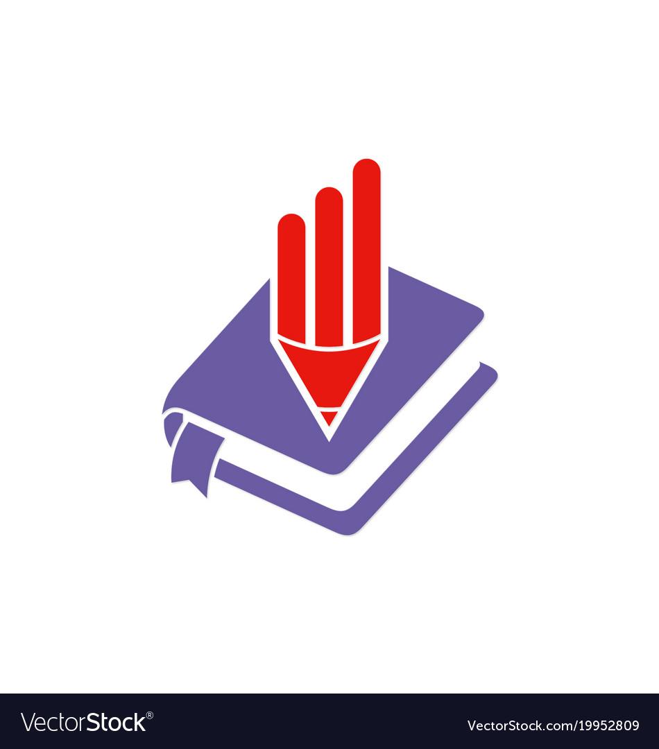 book and pencil logo