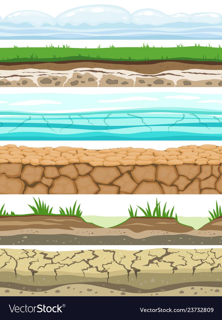 Ground seamless levels desert grounded land soil