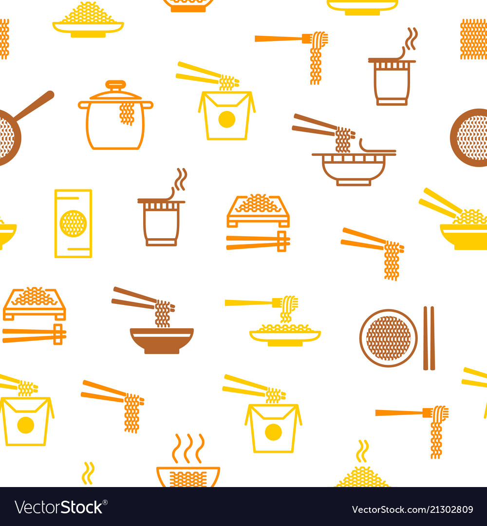 Noodle thin line seamless pattern background