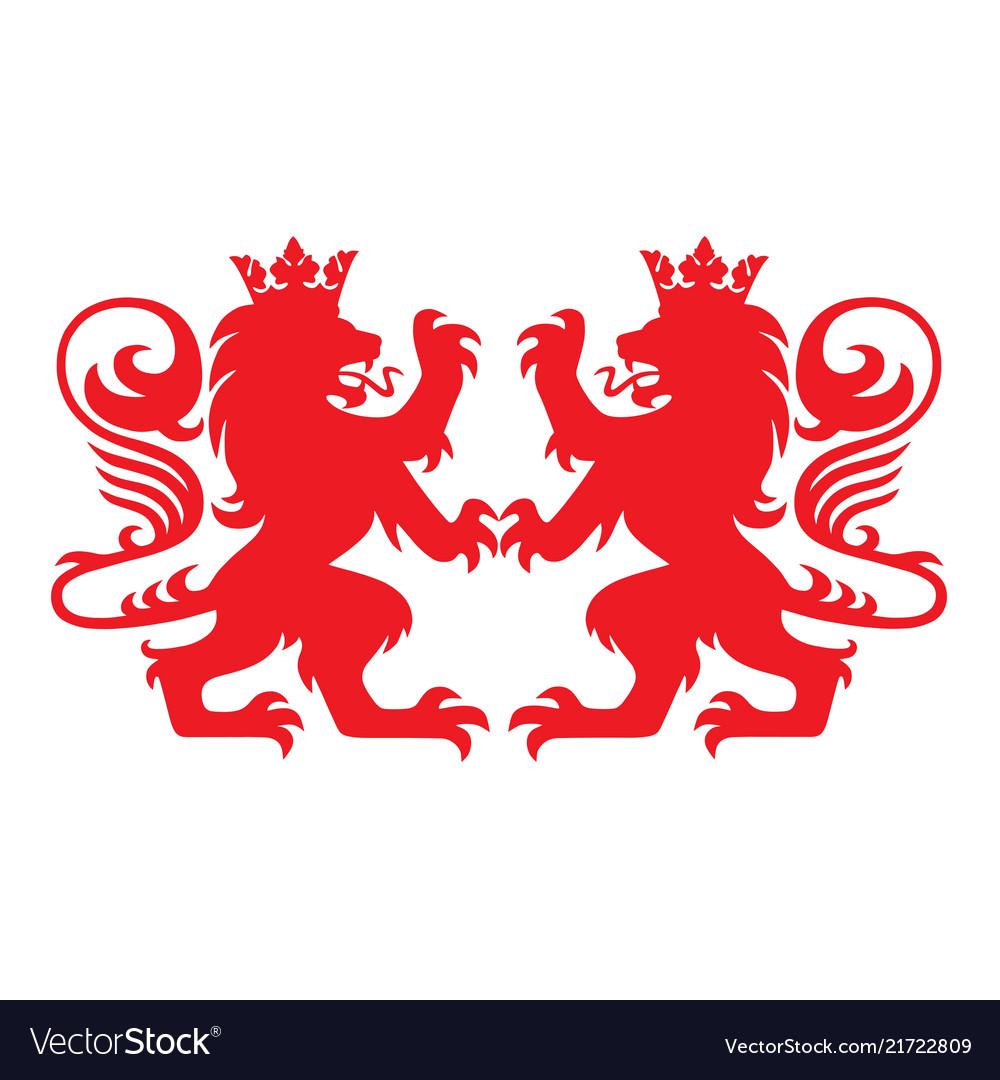 Royal lion heraldry heraldic logo mascot