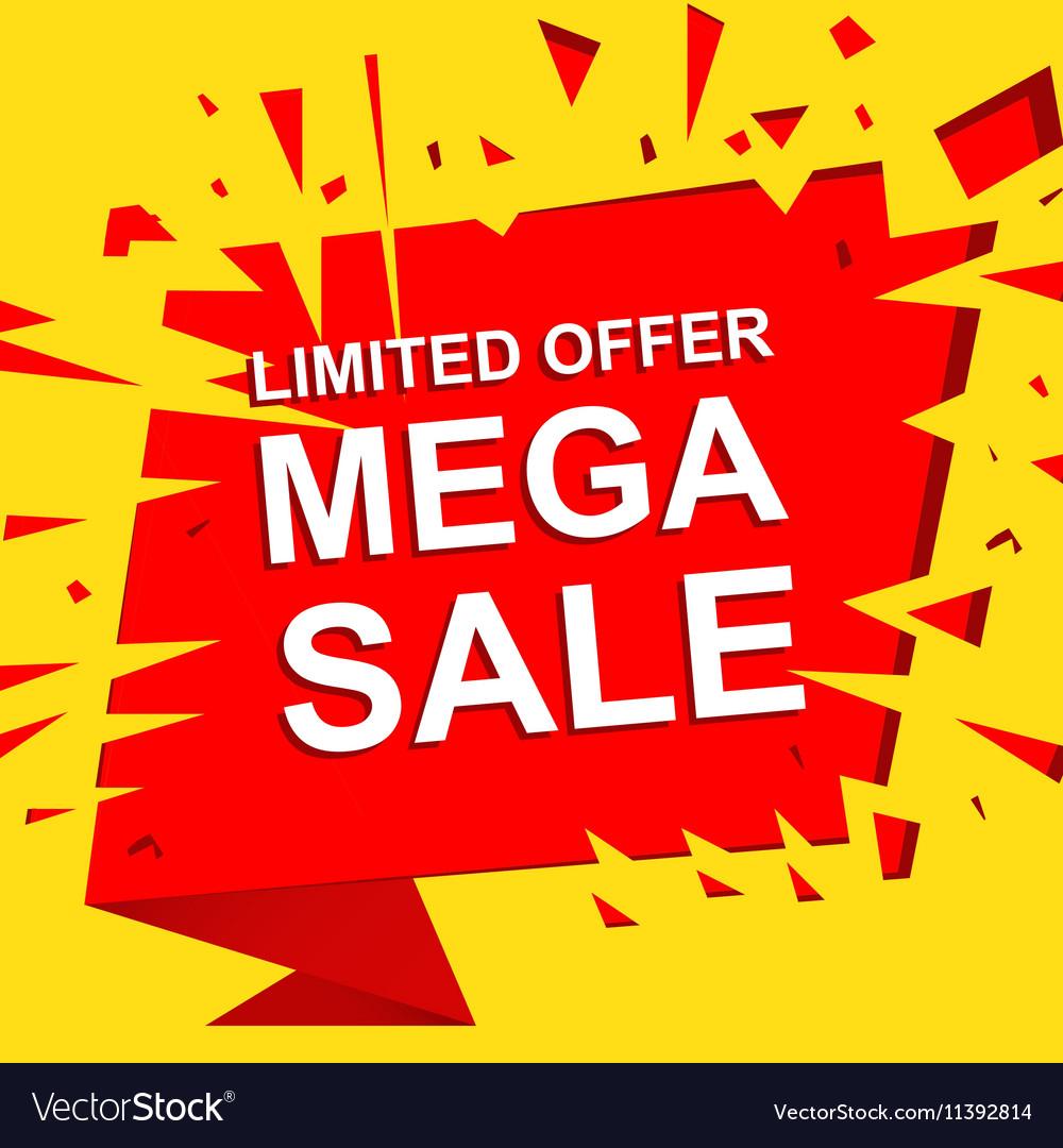 big sale poster with limited offer mega sale text home offer offer #8