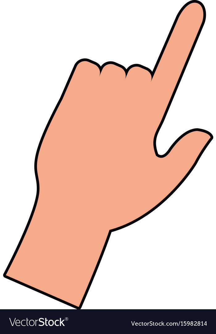 click hand icon pointer finger cursor royalty free vector rh vectorstock com vector handpiece turbines vector handpieces