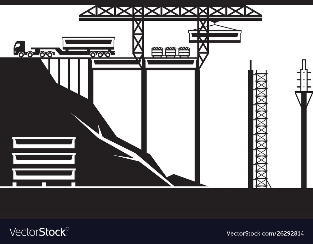 Construction bridge on highway
