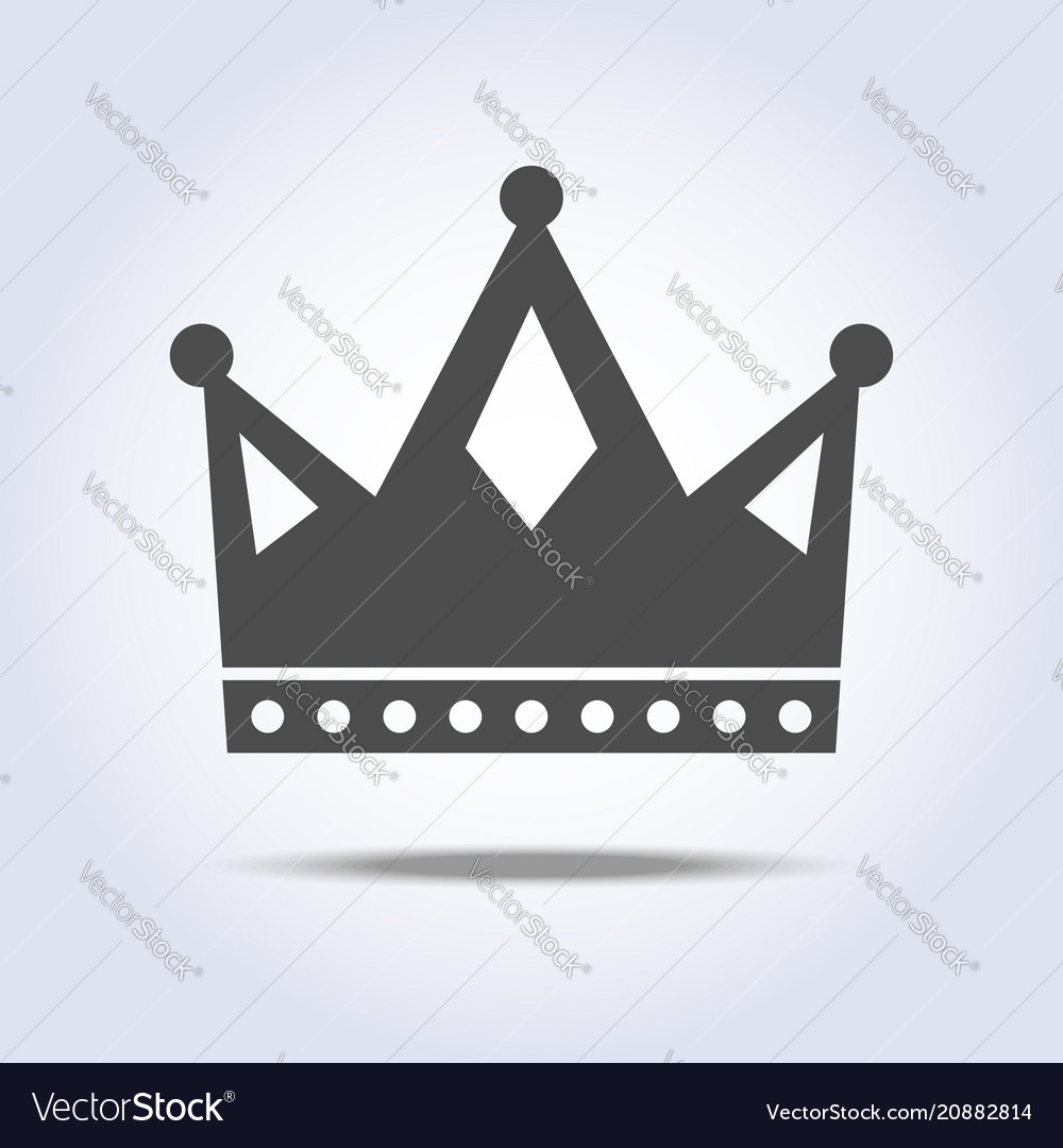 Gray colors crown icon symbol