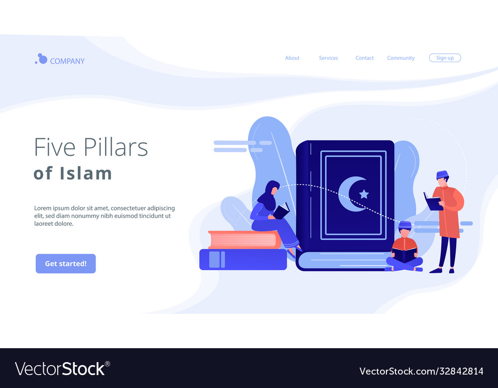 Islam concept landing page