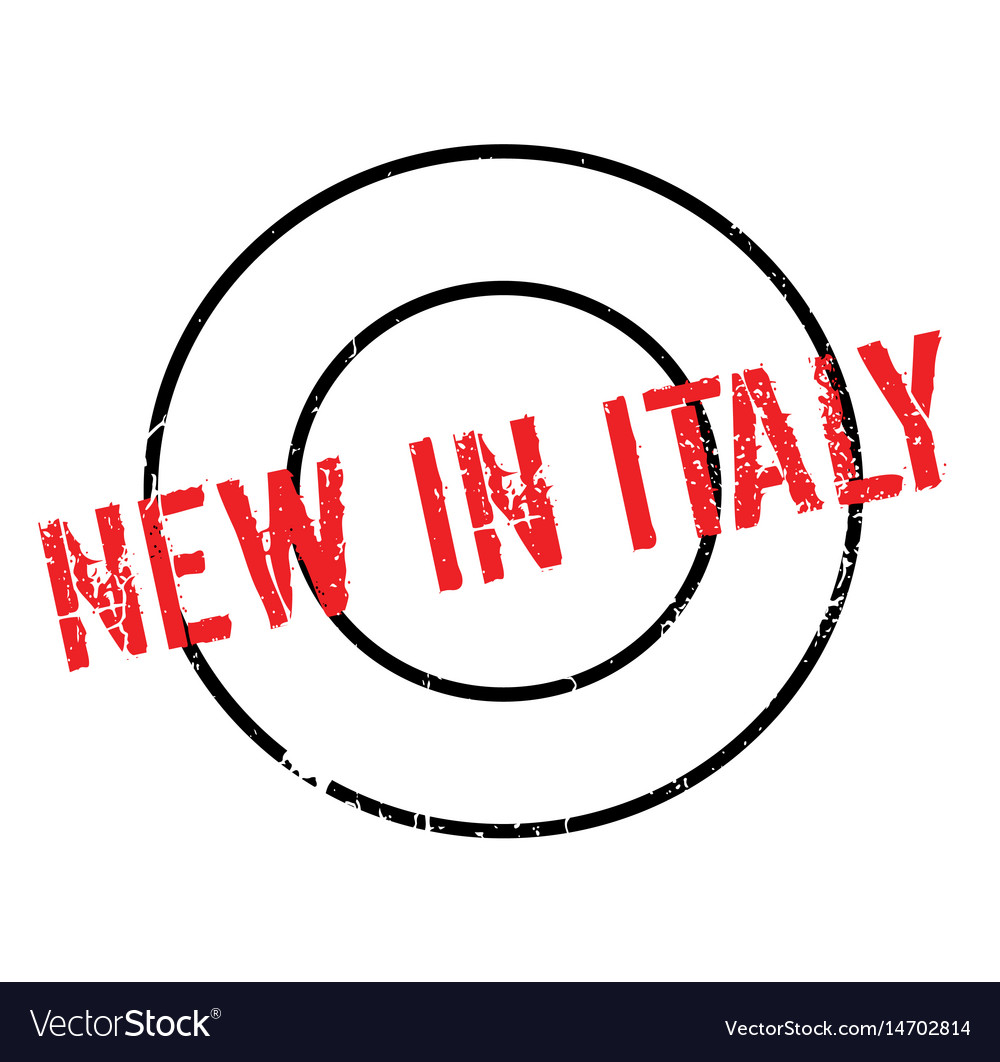 New in italy rubber stamp