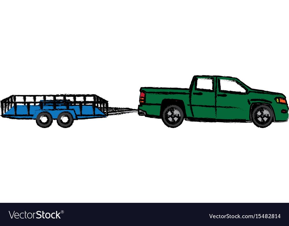 Pickup truck trailer cargo shipping image
