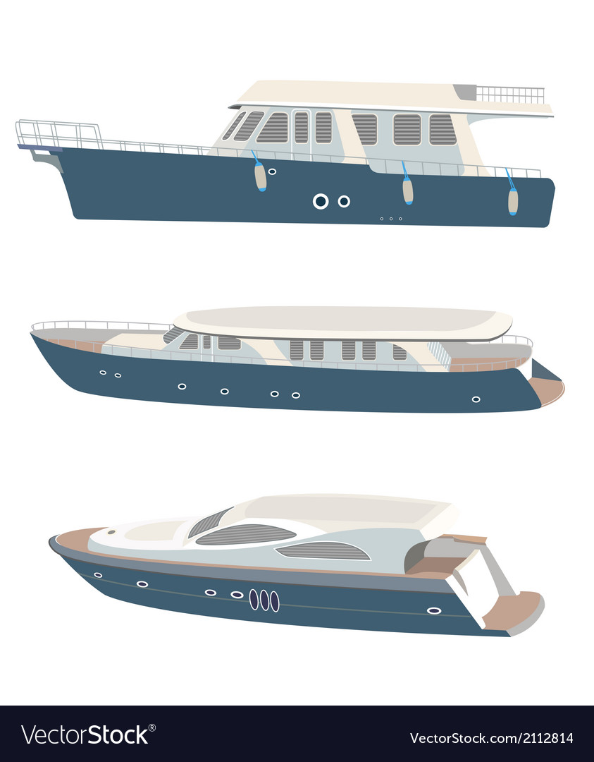 Set of yacht vector image