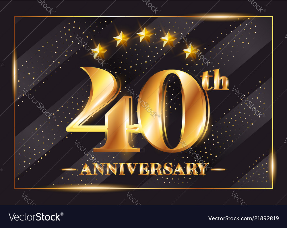 40 years anniversary celebration logo 40th