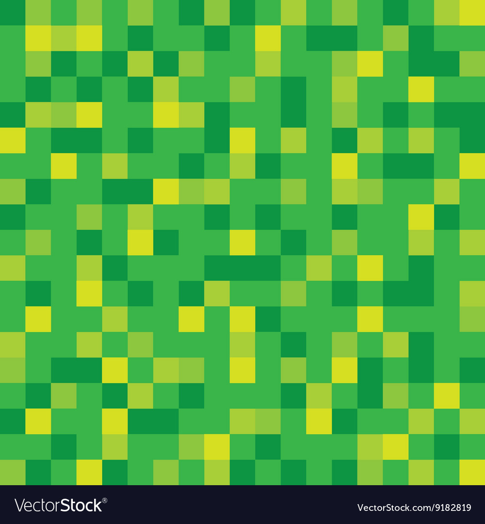 Abstract Block Texture Green Pixel Royalty Free Vector Image