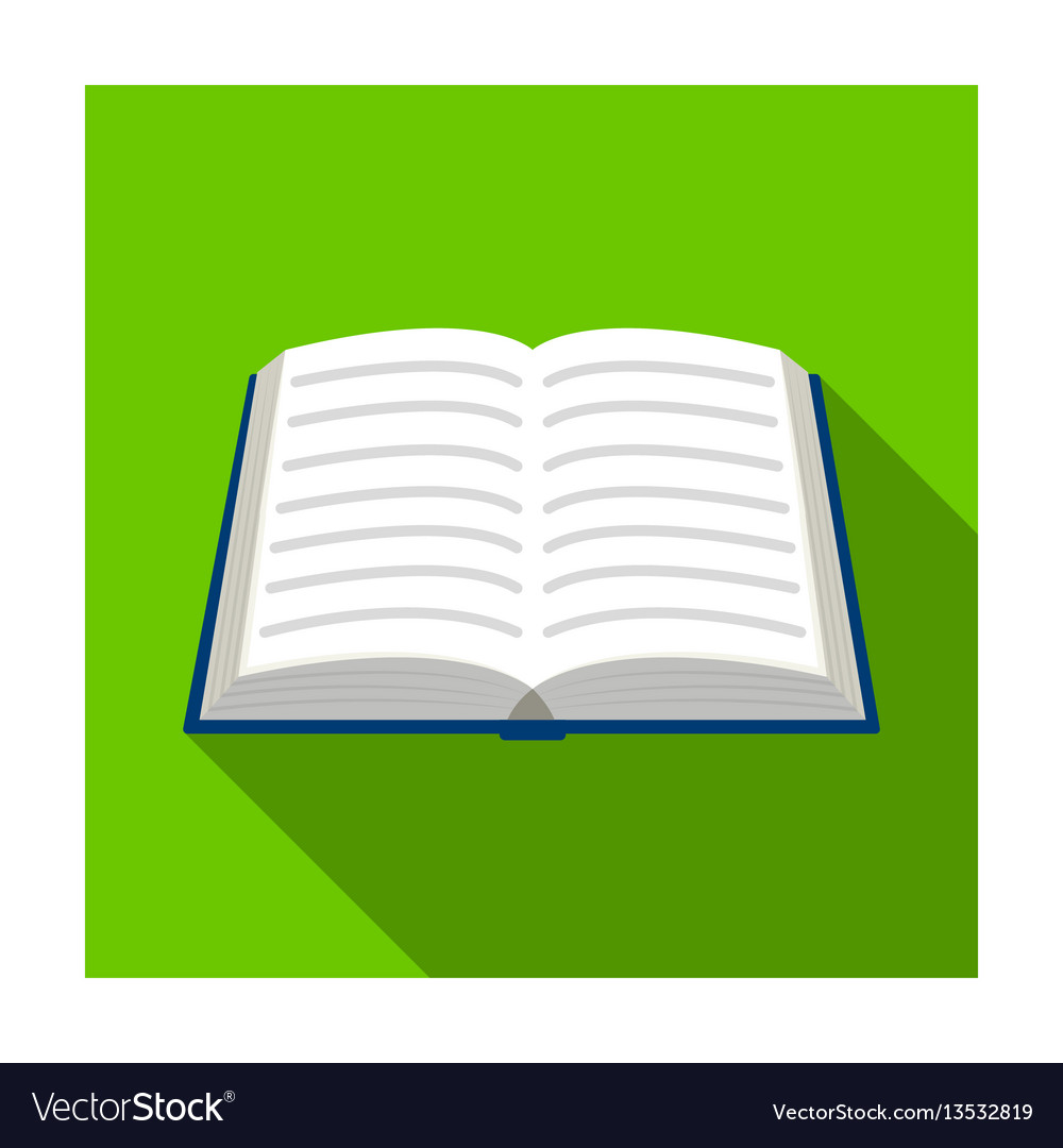 Book icon in flat style isolated on white vector image