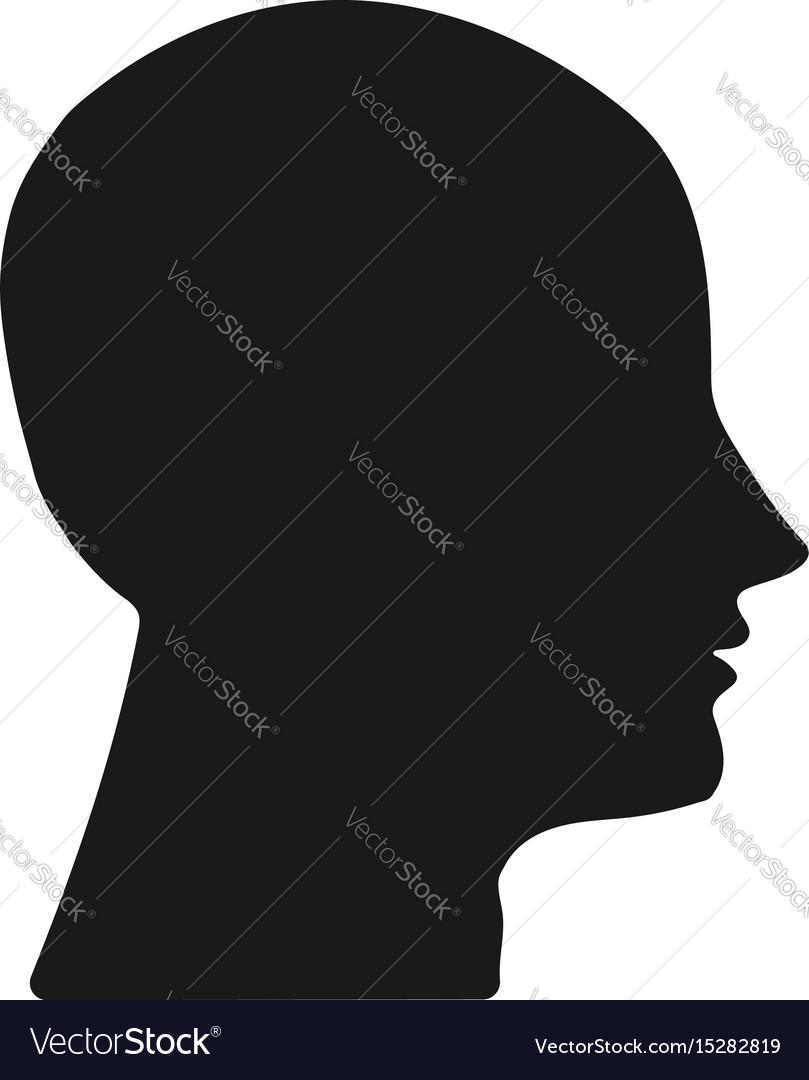 Dark silhouette heads on white background vector image