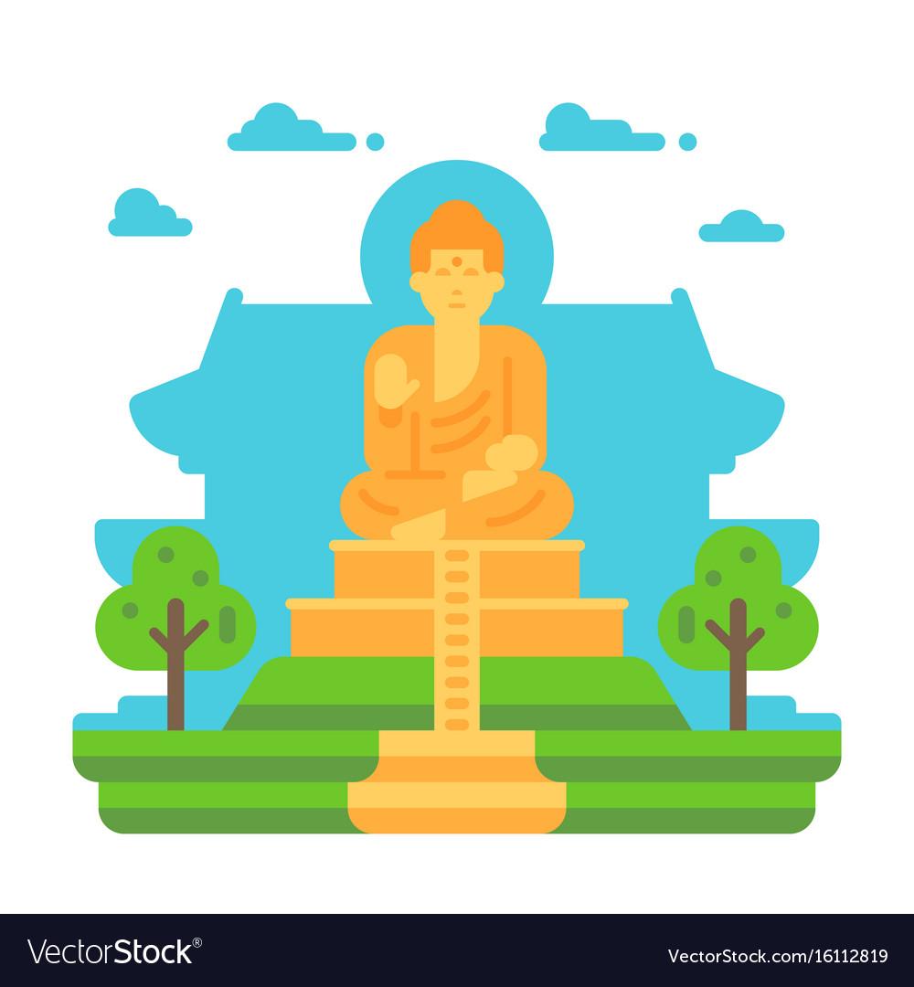 Flat design tian tan buddha