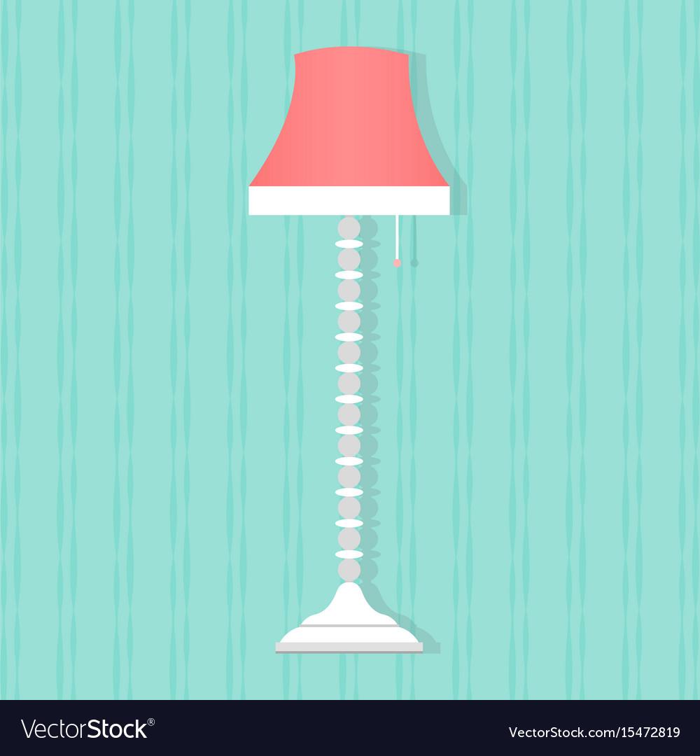 Flat style floor lamp icon