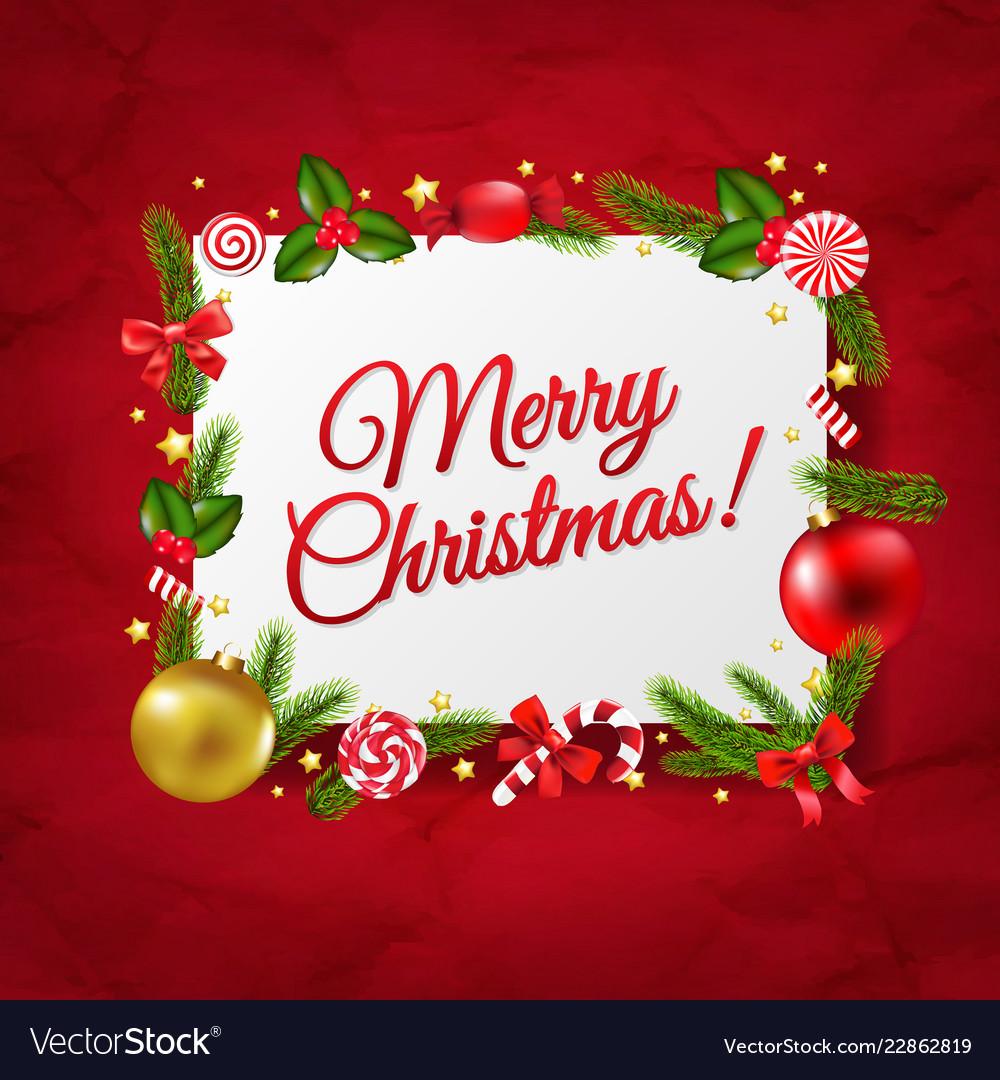 Christmas Postcards.Merry Christmas Postcard