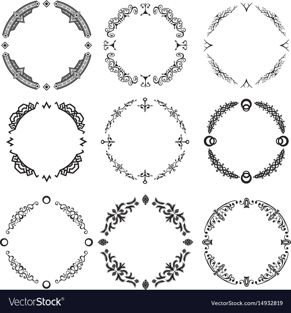 Set of abstract decorative ornamets vector image