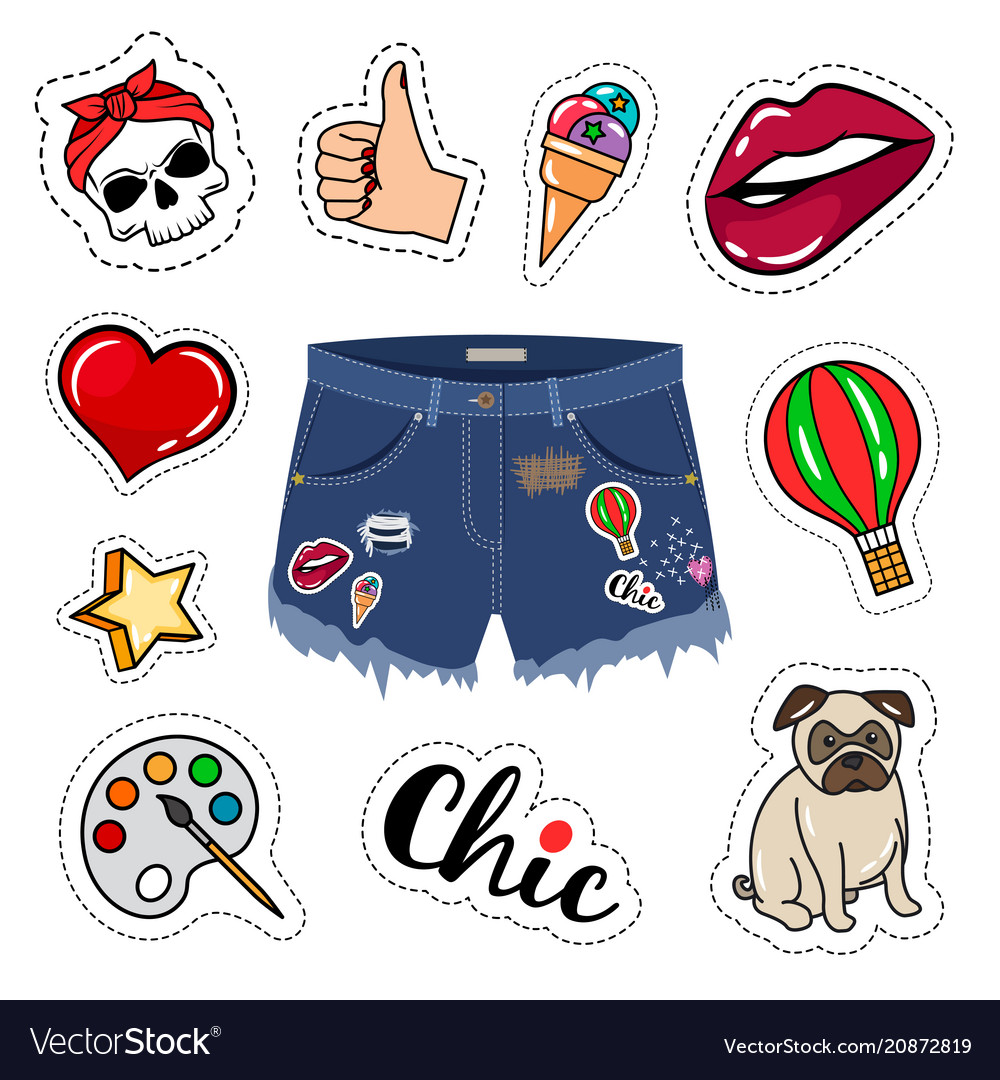 Trendy jeans shorts