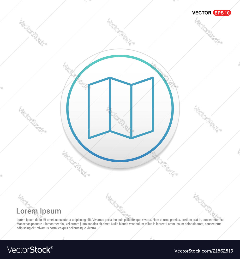 web map icon hexa white background icon template vector image