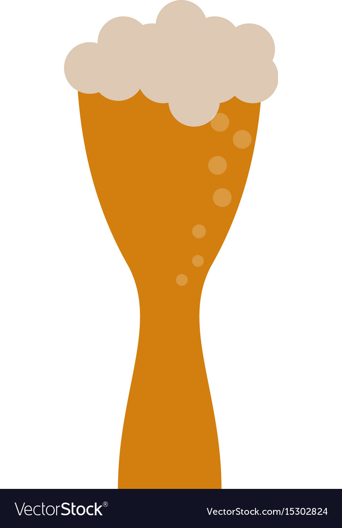 Beer glass foam vector image