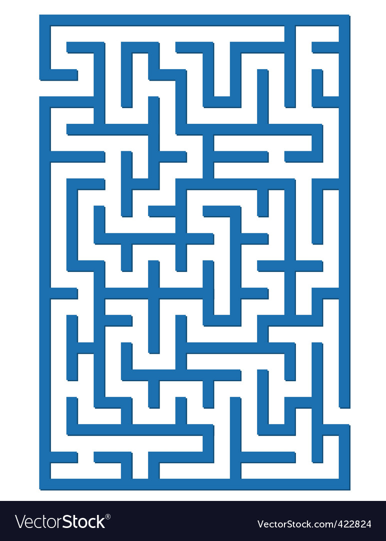 Blue labyrinth vector image