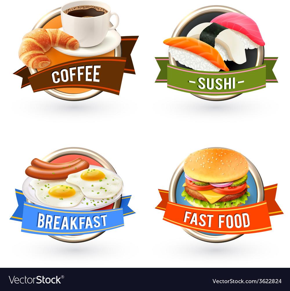 Breakfast Labels Set