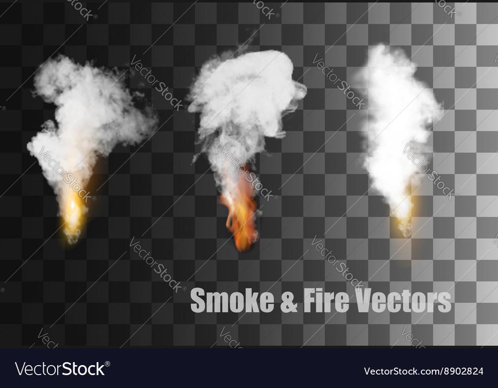 Flames with smoke icons